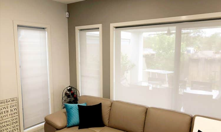 See Through White Roller Blinds
