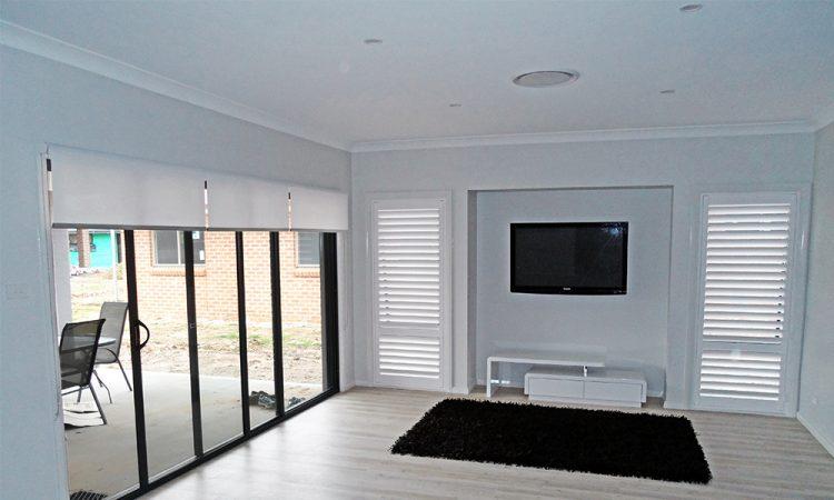 White Roller Blinds in The Living Room