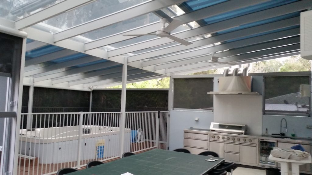 Markilux Awning Over Kitchen and Jacuzzi