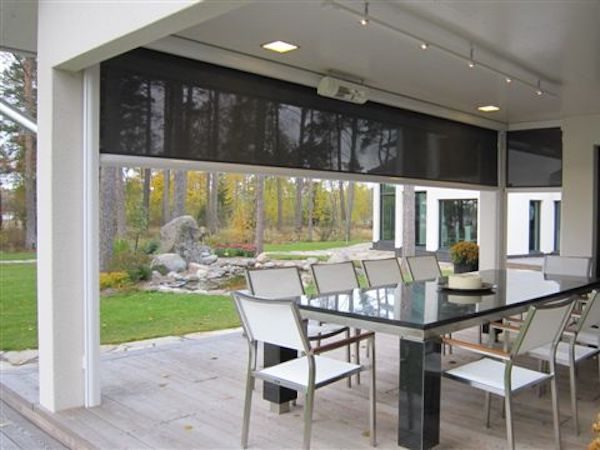 Black See through Tracfix Awning By Markilux