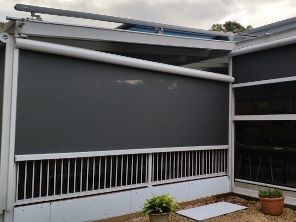 Side View Of Black Tracfix Awning by Markilux